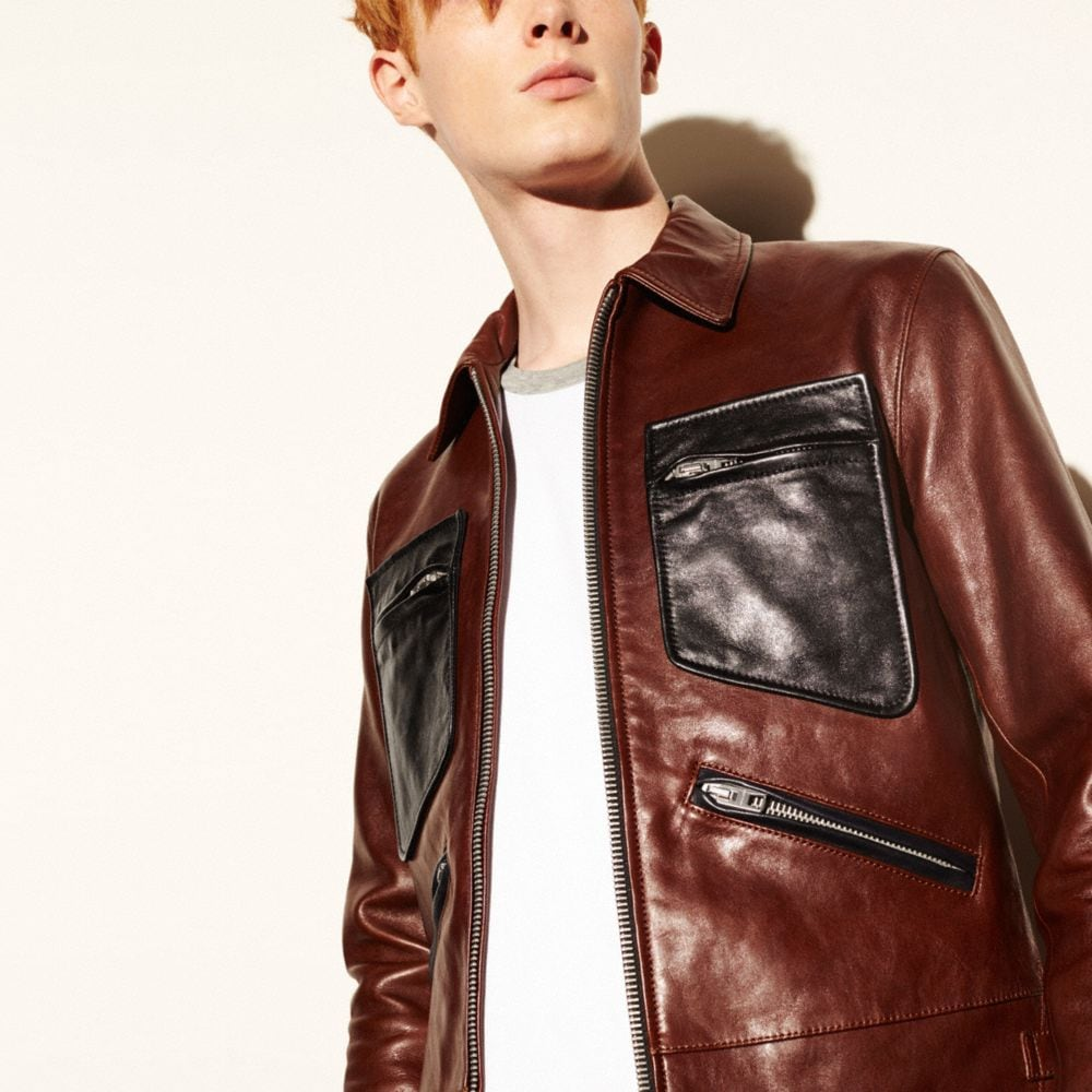 Coach Leather Roadster Jacket