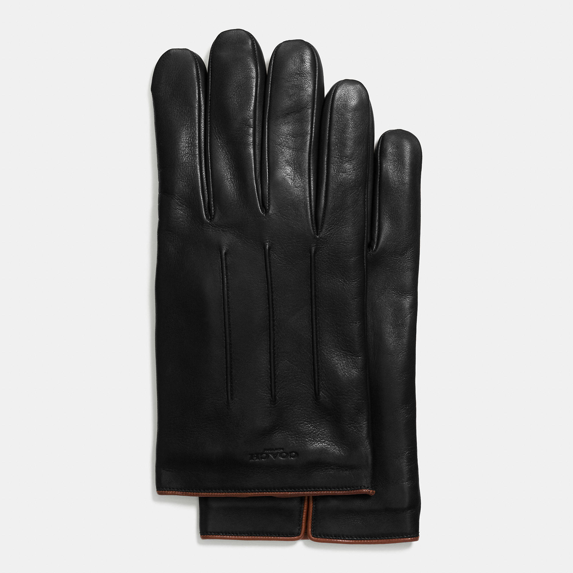 Coach Leather Touchscreen Glove