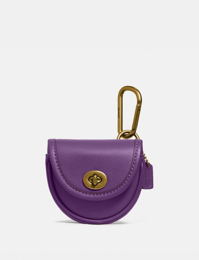 Coach Turnlock Key Fob Purple New Featured Coach Pride Collection