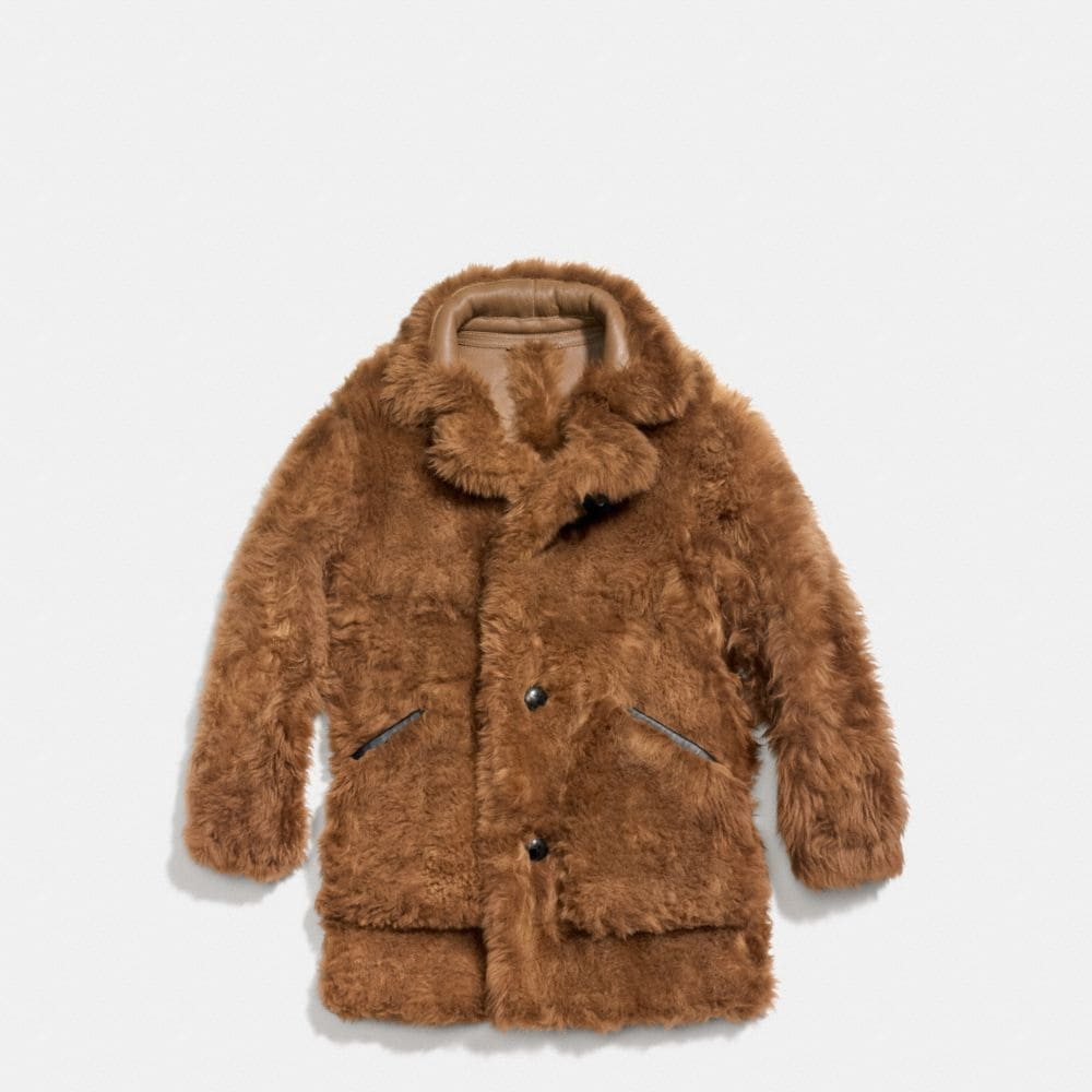 Toy Soldier Shearling Pieced Coat