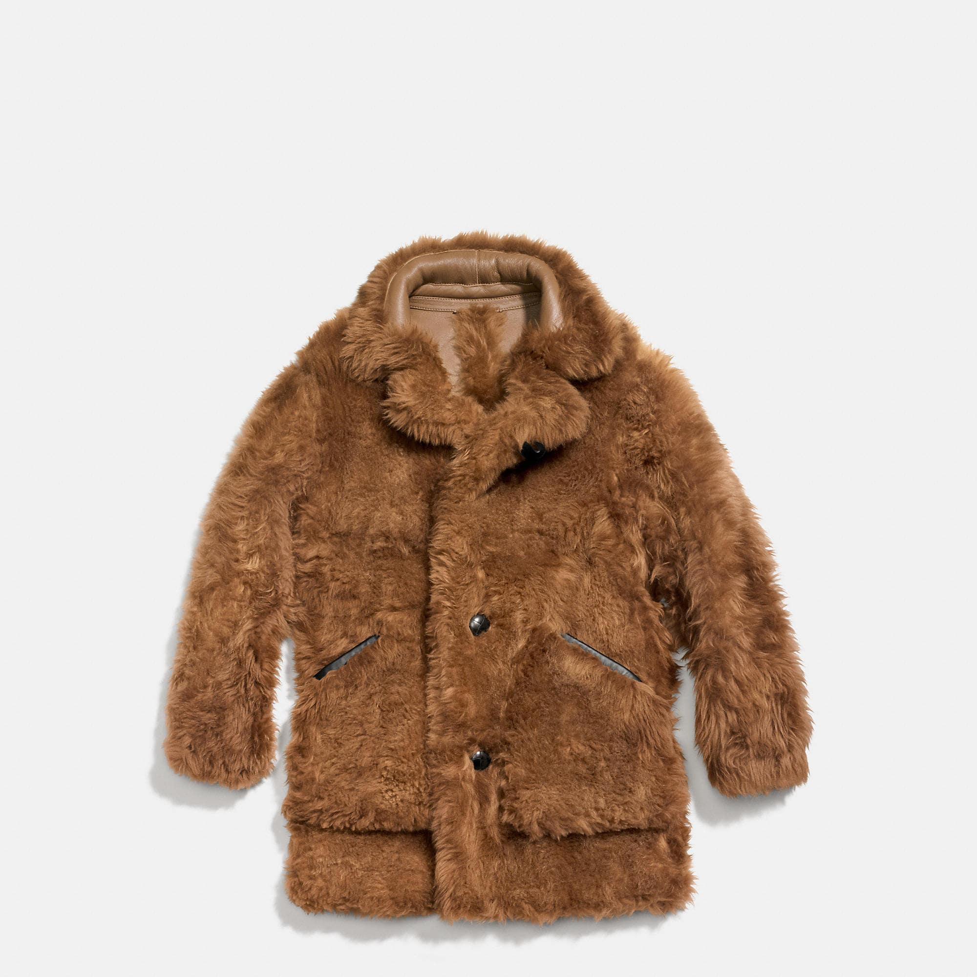 Coach Toy Soldier Shearling Pieced Coat