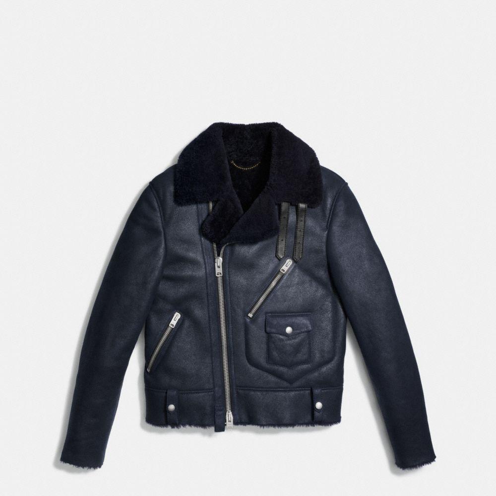 Shearling Motorcycle Jacket