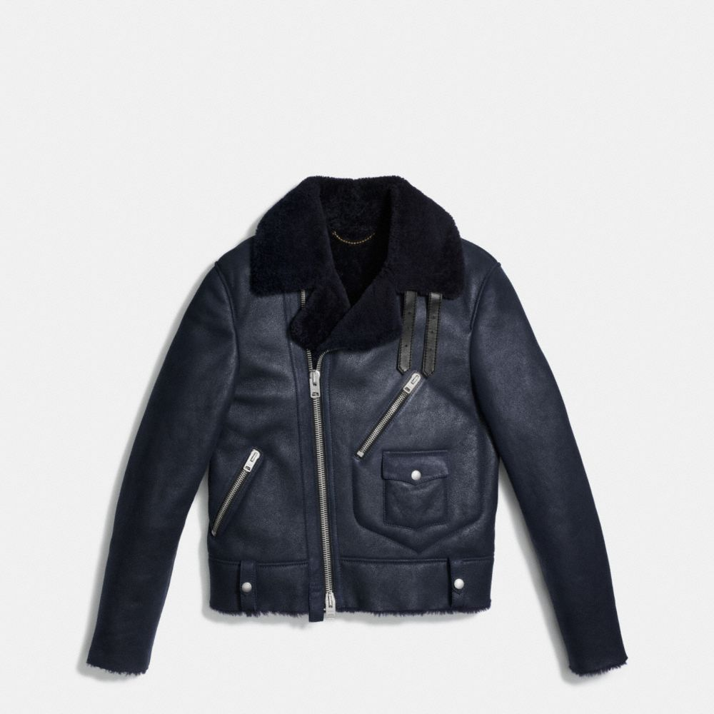 Coach Shearling Motorcycle Jacket