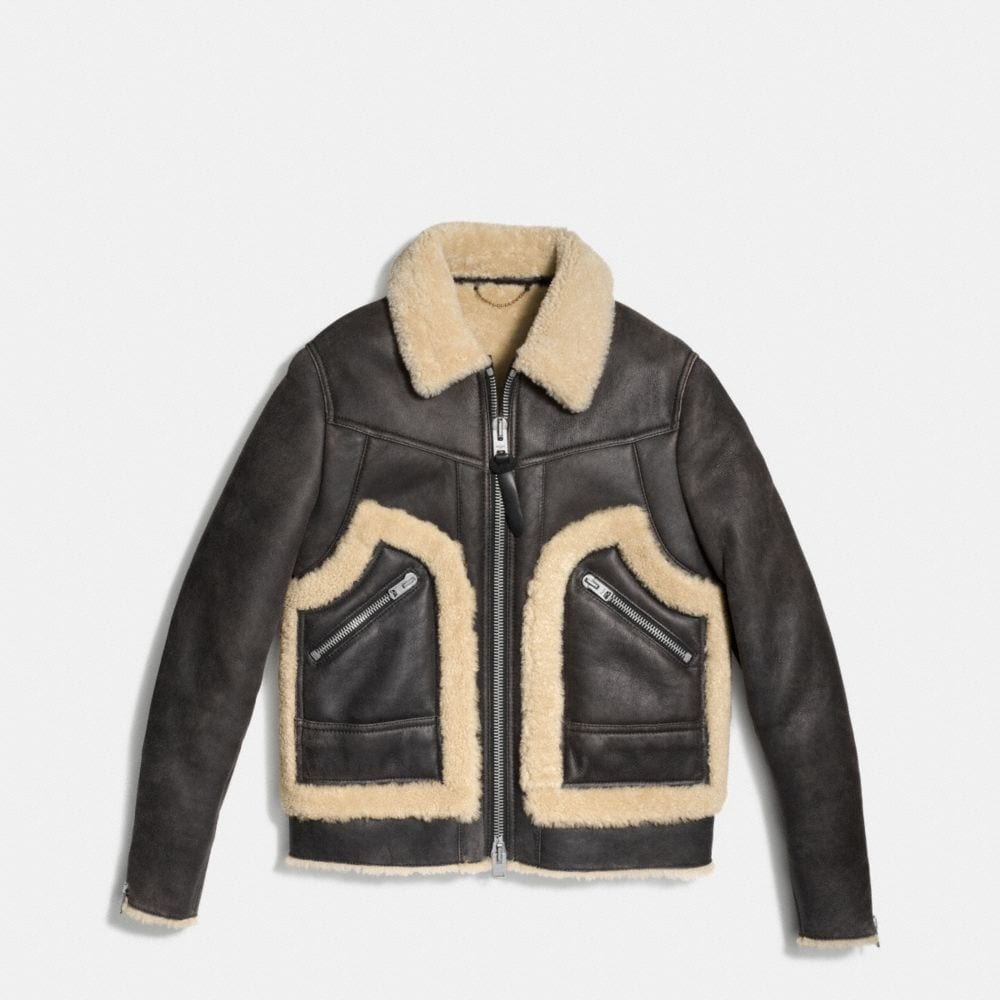 Coach Shearling Stinger Jacket