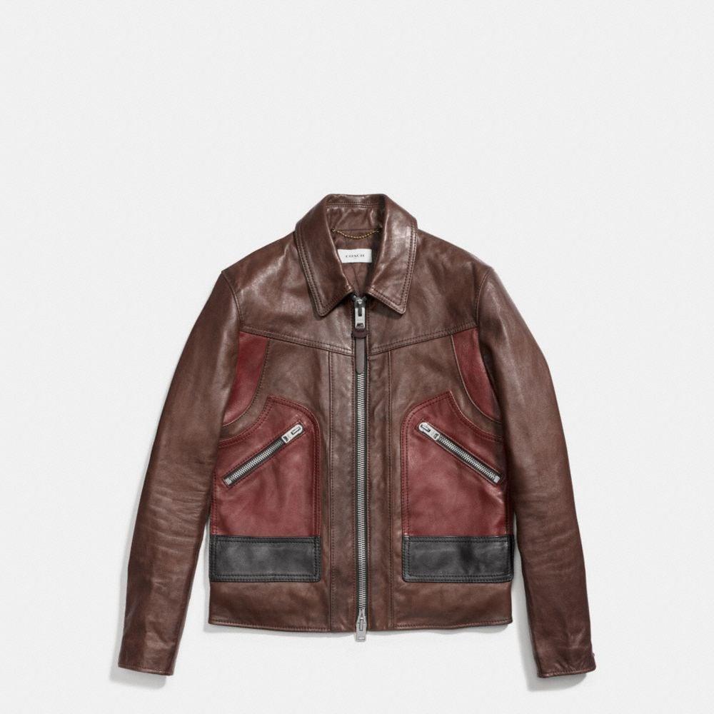 Coach Washed Leather Stinger Jacket