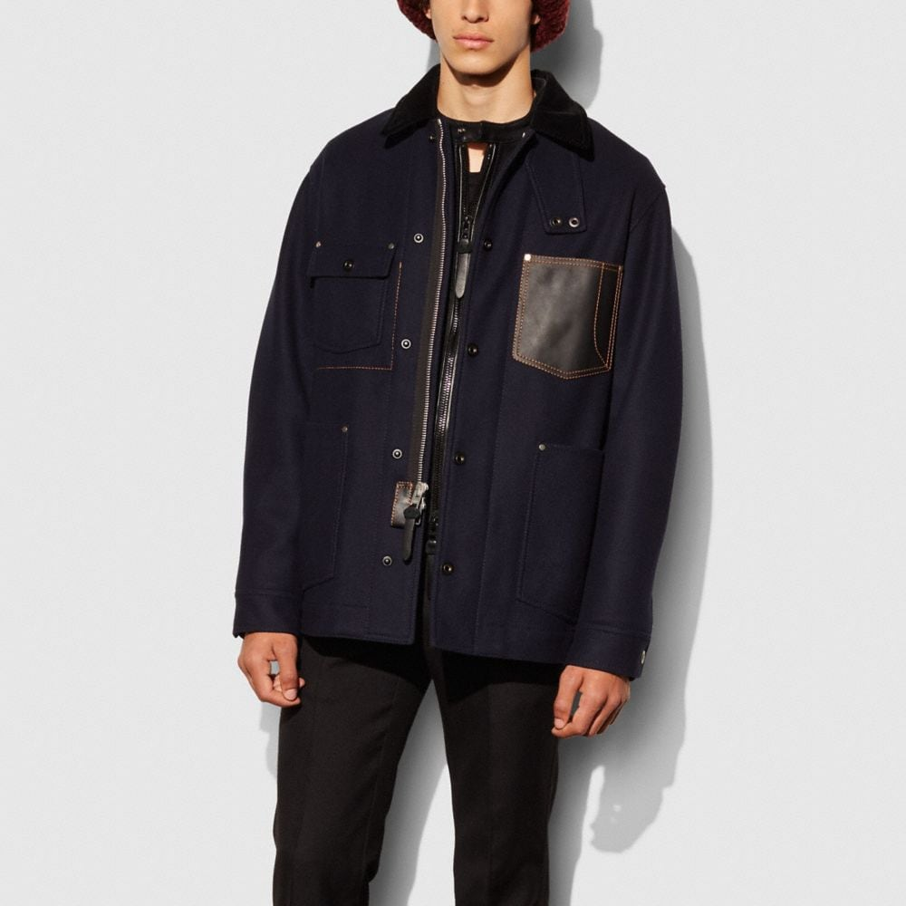 INDIGO WOOL BARN JACKET