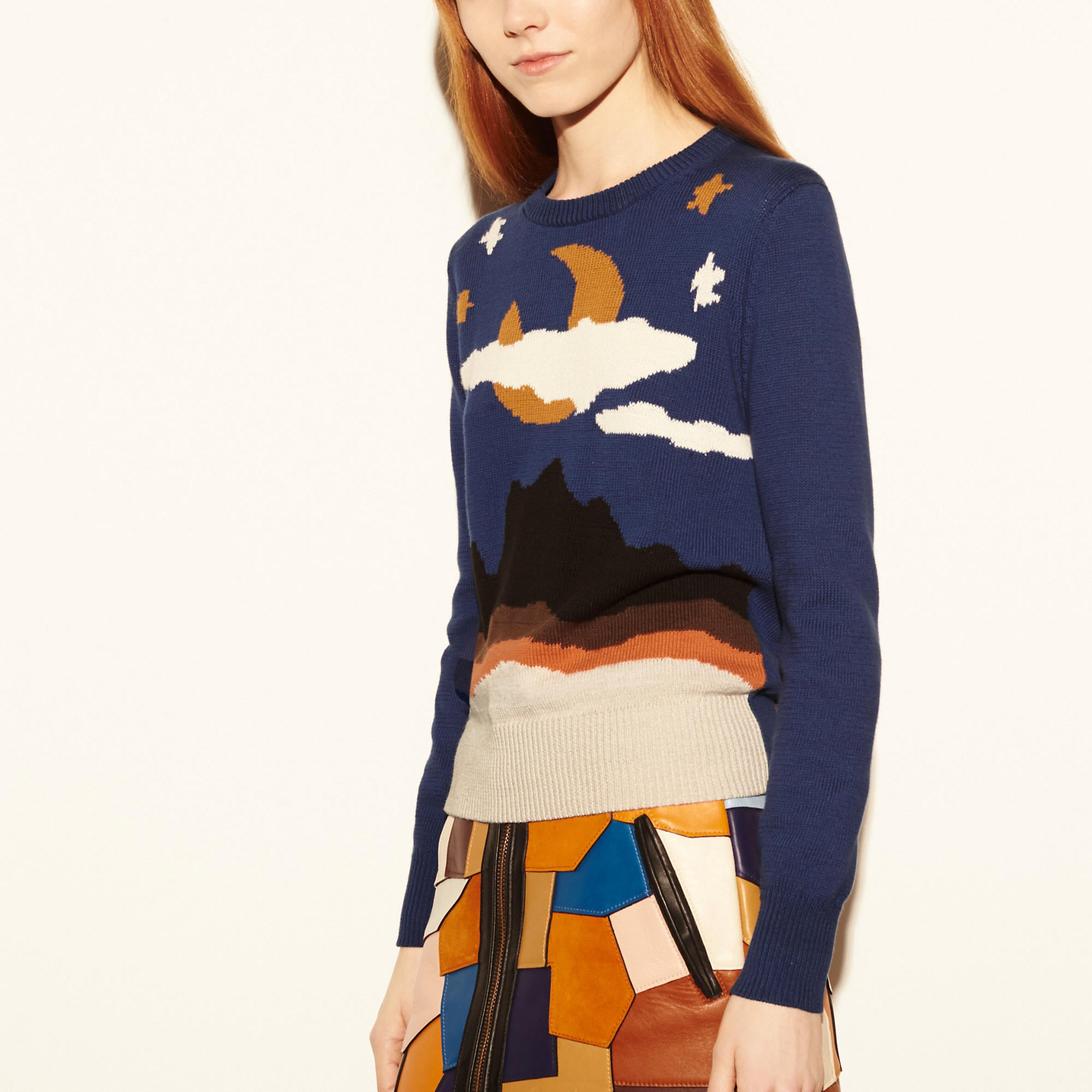 Coach 1941 Moonscape Crewneck Sweater