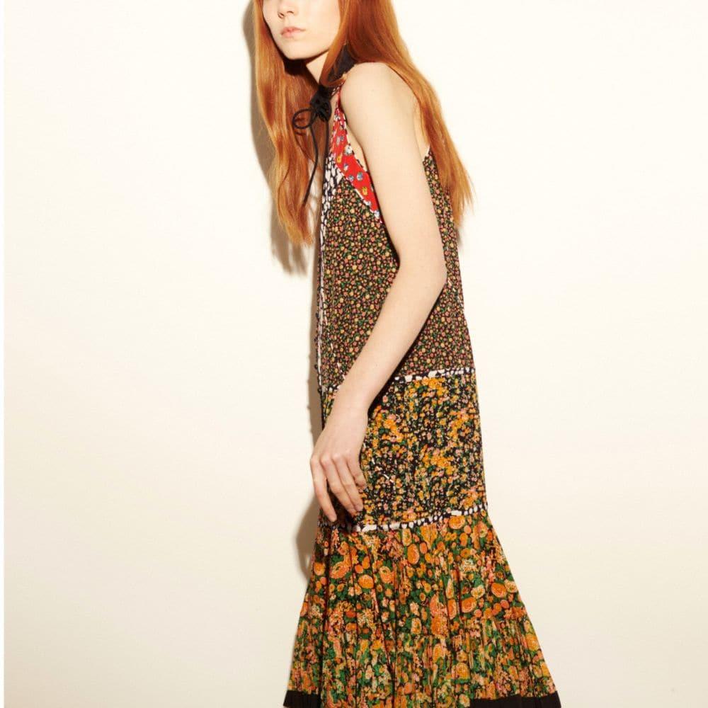 LONG FRONT PLACKET DRESS