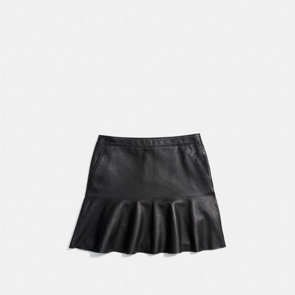 Fluid Leather Skirt - Alternate View A3
