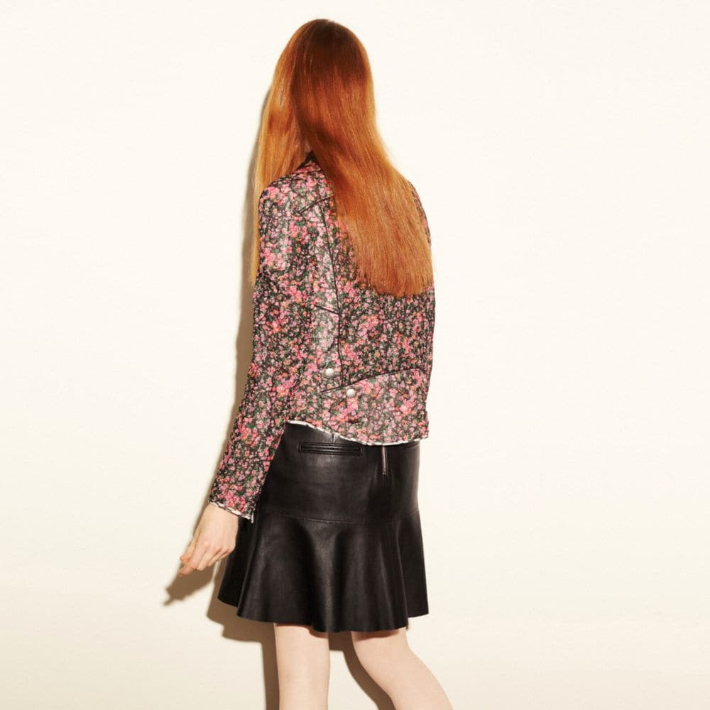 Coach Fluid Leather Skirt Alternate View 3