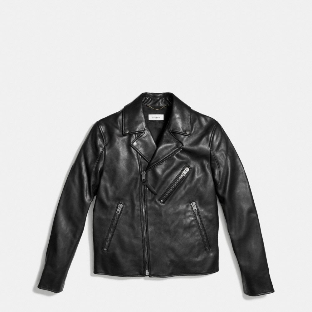Coach Leather Moto Jacket