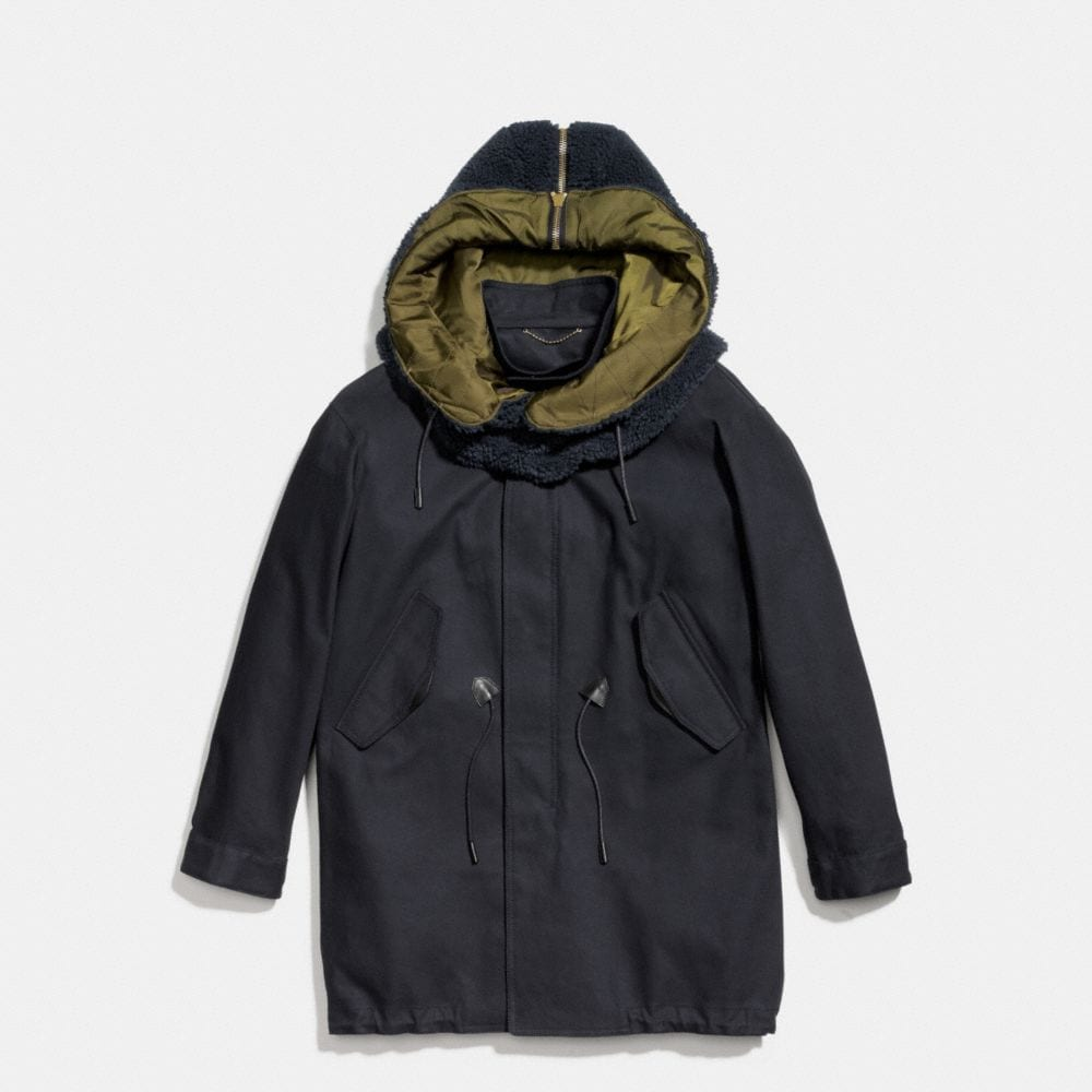 Coach Removable Hood Parka