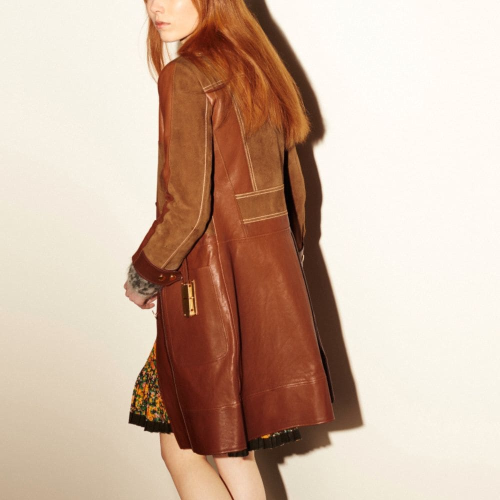 Combo Leather Coat - Alternate View M
