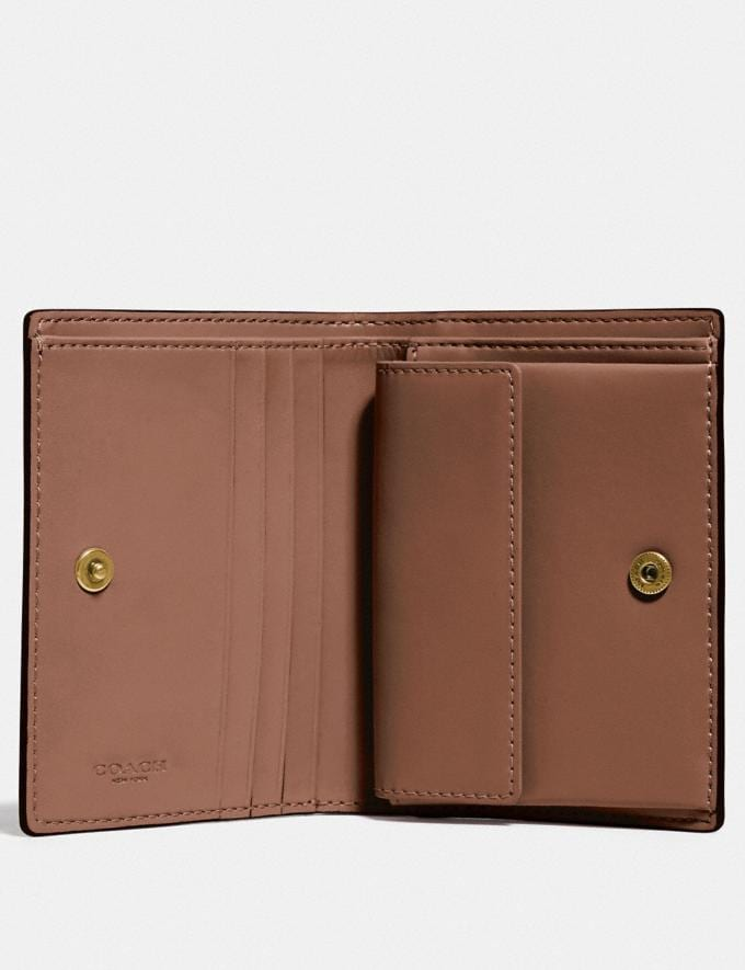 Coach Small Snap Wallet With Apple B4/Chalk  Alternate View 1