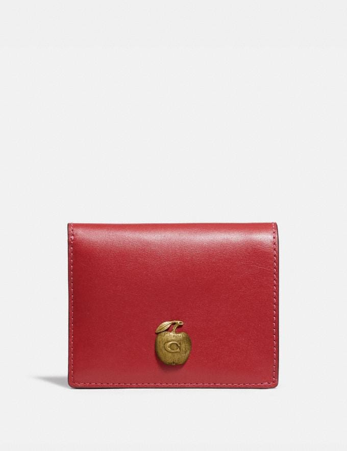 Coach Small Snap Wallet With Apple B4/Red Apple