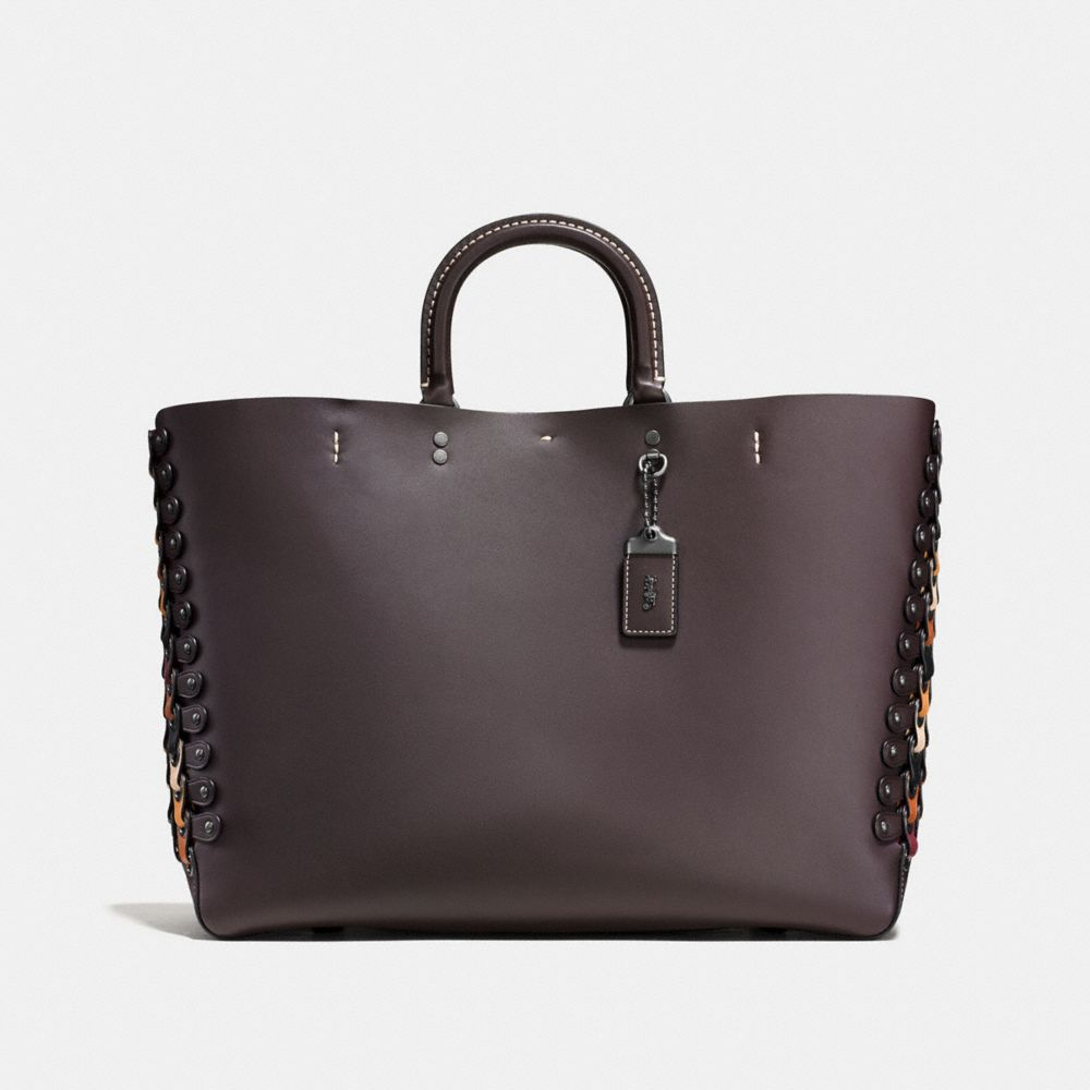 Coach Rogue Tote With Colorblock Coach Link Detail
