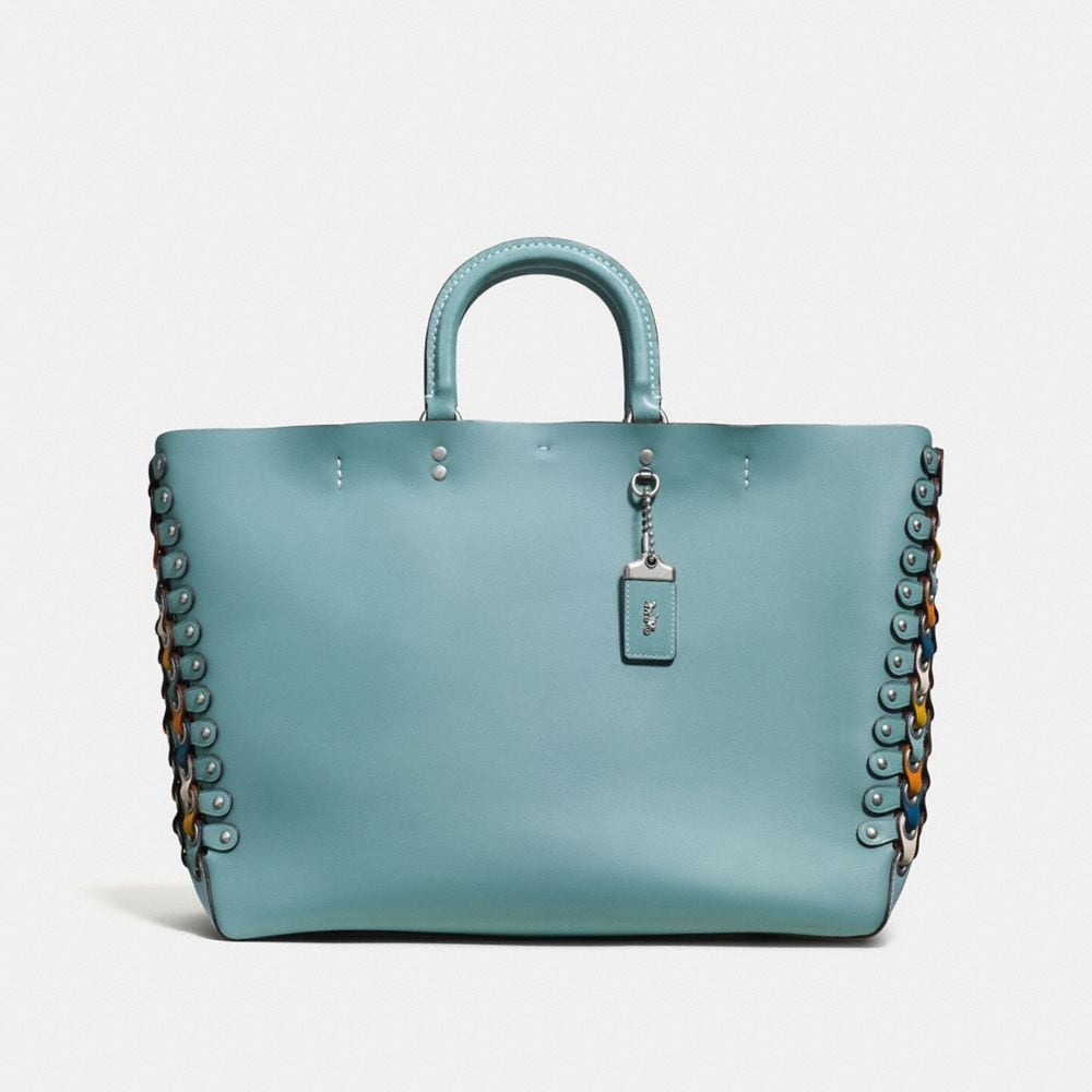ROGUE TOTE IN COLORBLOCK COACH LINK LEATHER