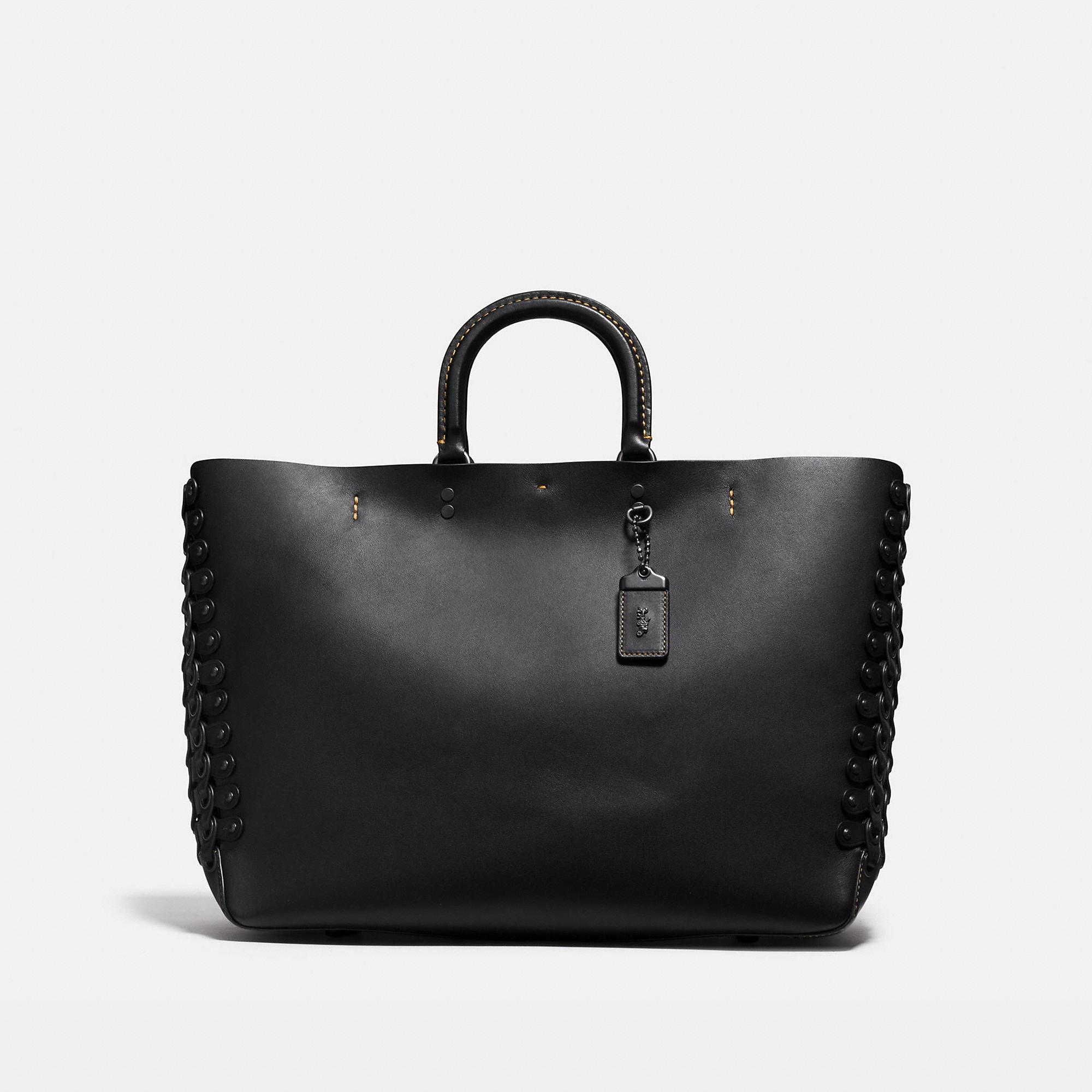 Coach Rogue Tote In Glovetanned Calf Leather With Link Detail