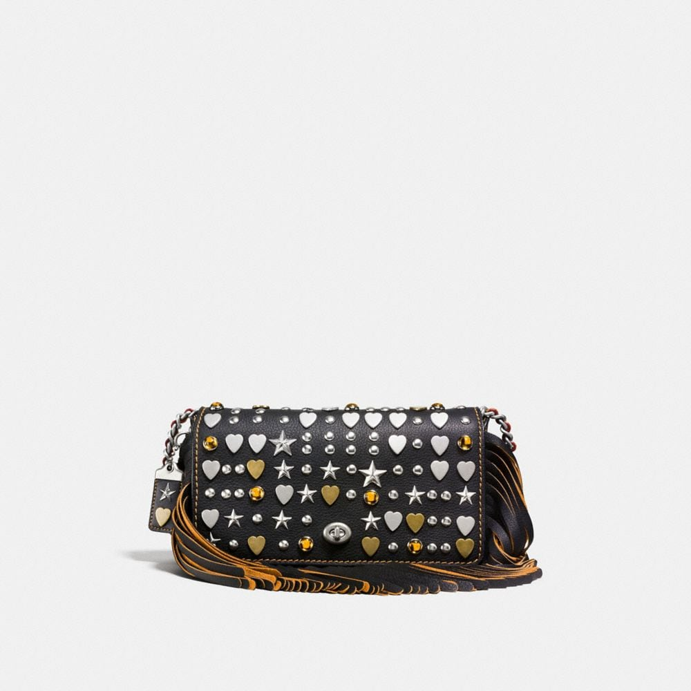 DINKY IN VERY NATURAL PEBBLE LEATHER WITH BEATNIK RIVETS