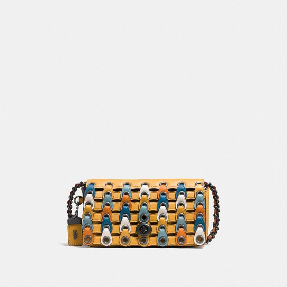 DINKIER IN COLORBLOCK COACH LINK LEATHER