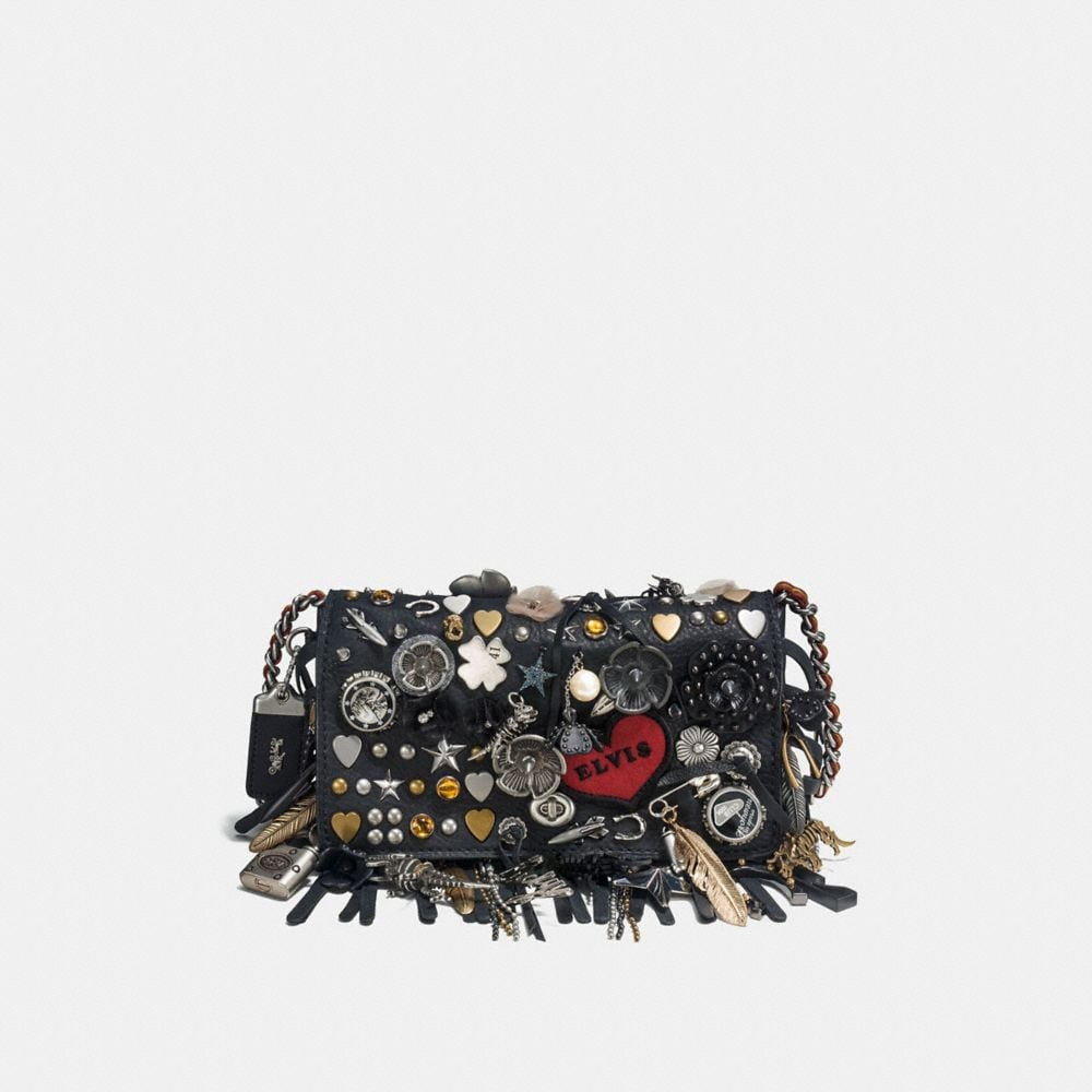 DINKY IN PEBBLE LEATHER WITH SOUVENIR CHARMS