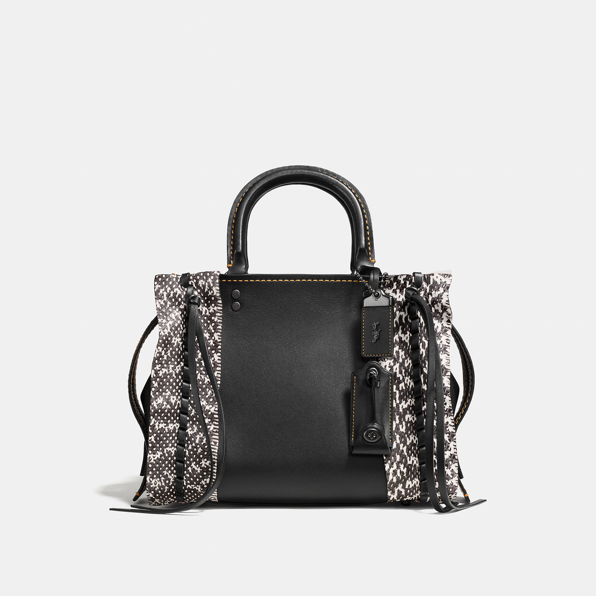 Coach Rogue 25 In Glovetanned Leather With Whipstitch Snake