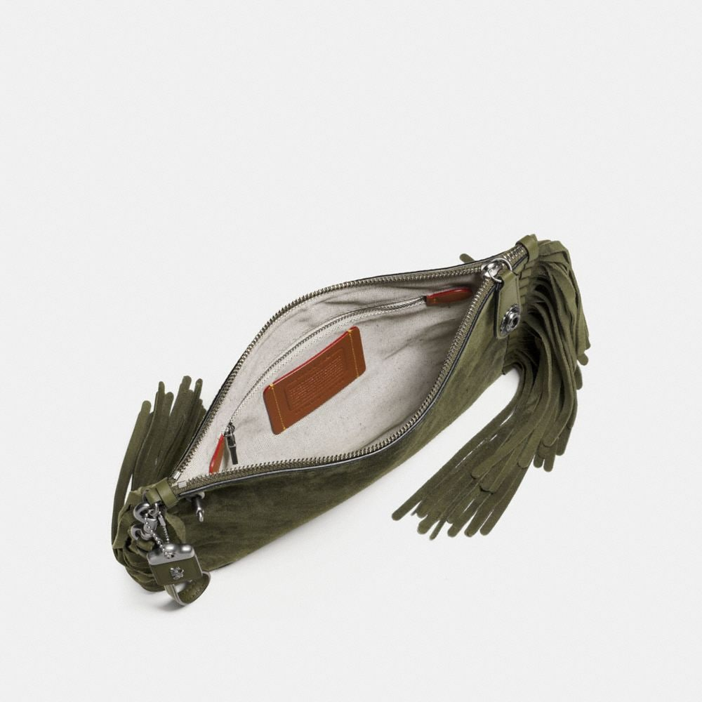 Turnlock Wristlet 30 in Cervo Suede With Fringe - Alternate View A1