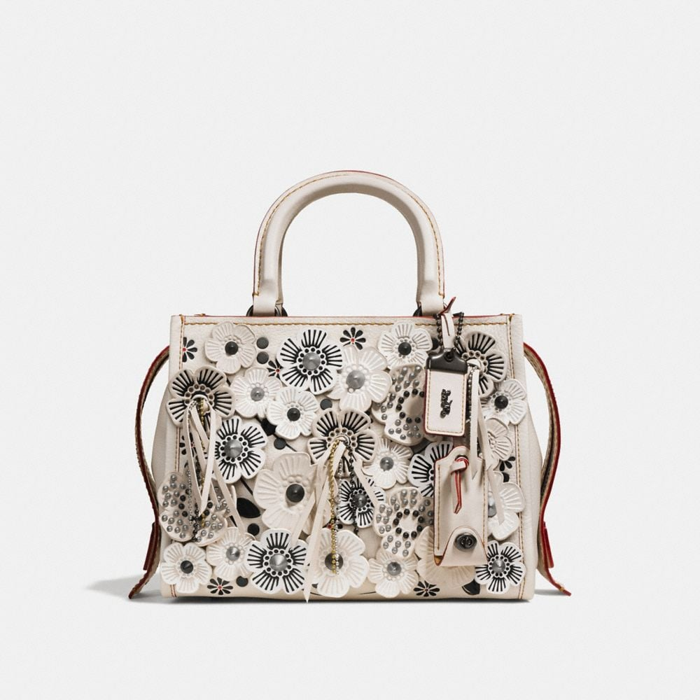 Coach Rogue 25 in Glovetanned Pebble Leather With Wild Tea Rose