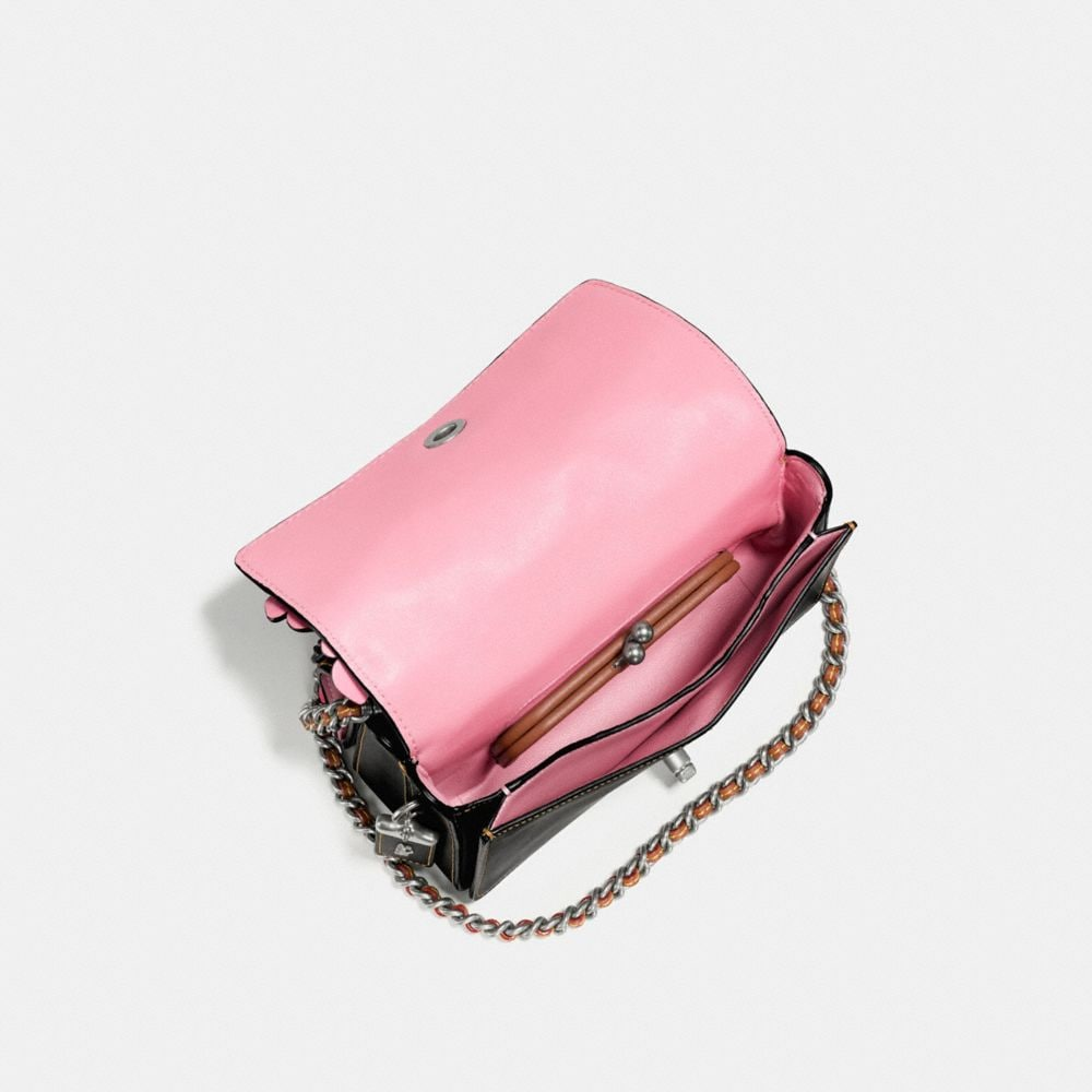 Coach Double Dinky in Glovetanned Leather With Wild Tea Rose Alternate View 2