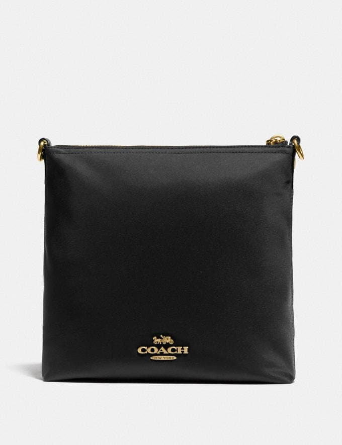 Coach Cargo Crossbody With Vintage Rose Print Interior Brass/Black Women Bags Crossbody Bags Alternate View 2