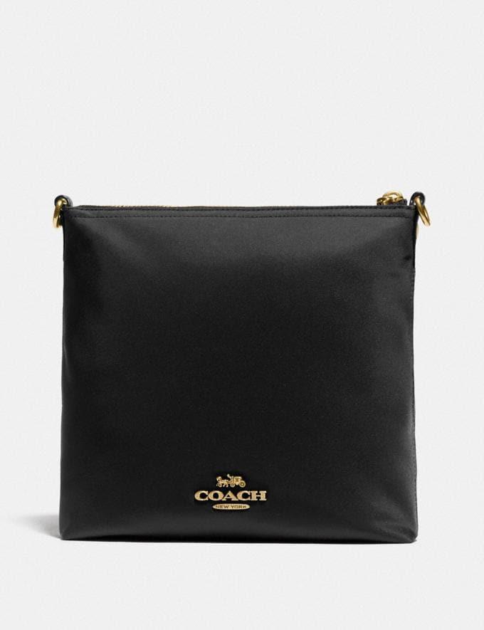 Coach Cargo Crossbody With Vintage Rose Print Interior Brass/Black Nylon Alternate View 2