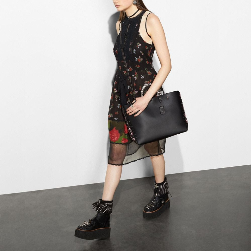 Coach Rogue Tote With Snakeskin Coach Link Detail Alternate View 5