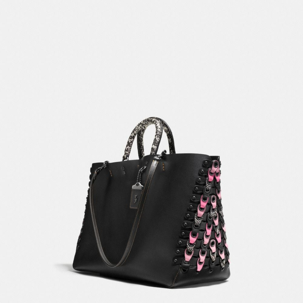 Coach Rogue Tote With Snakeskin Coach Link Detail Alternate View 2
