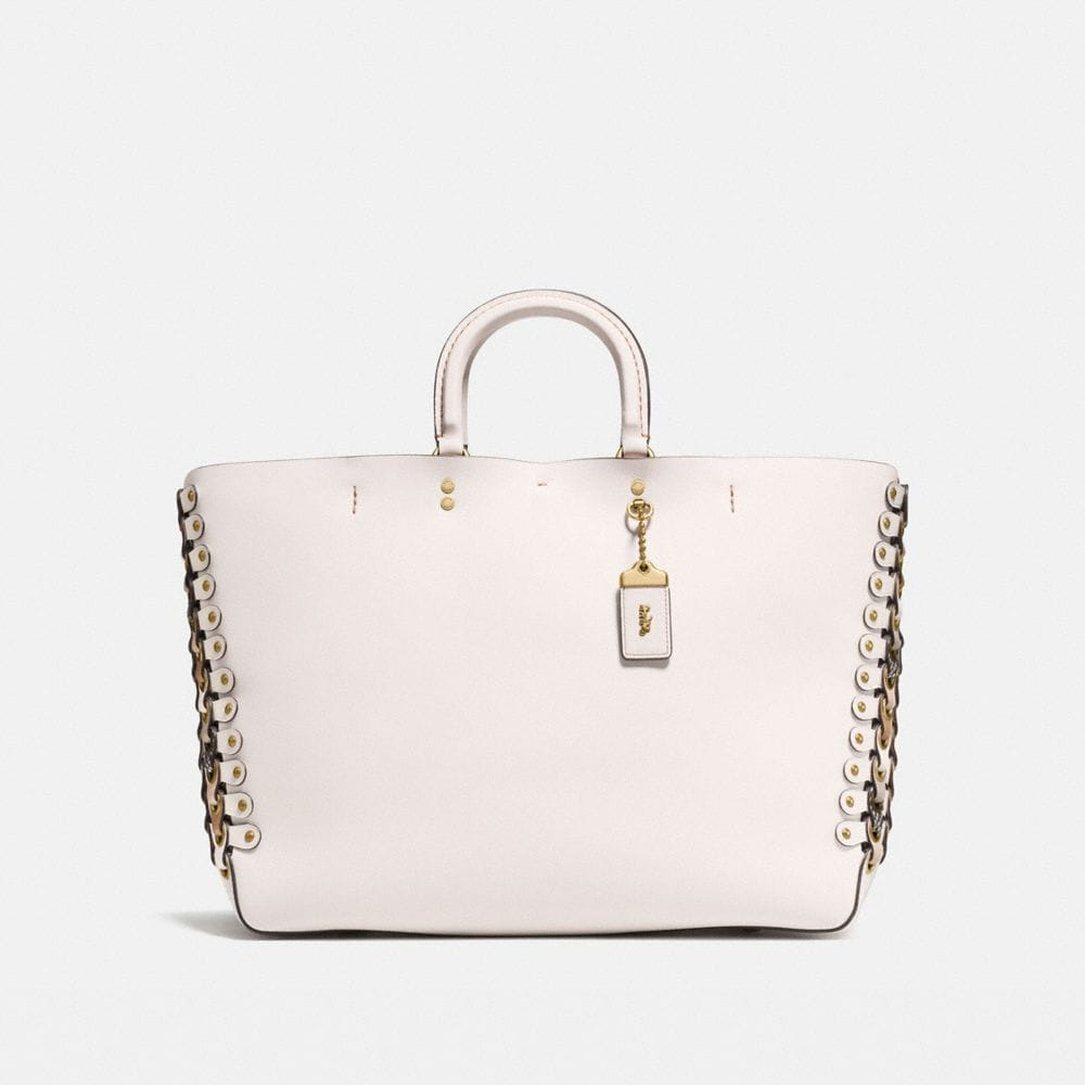 Coach Rogue Tote With Snakeskin Coach Link Detail