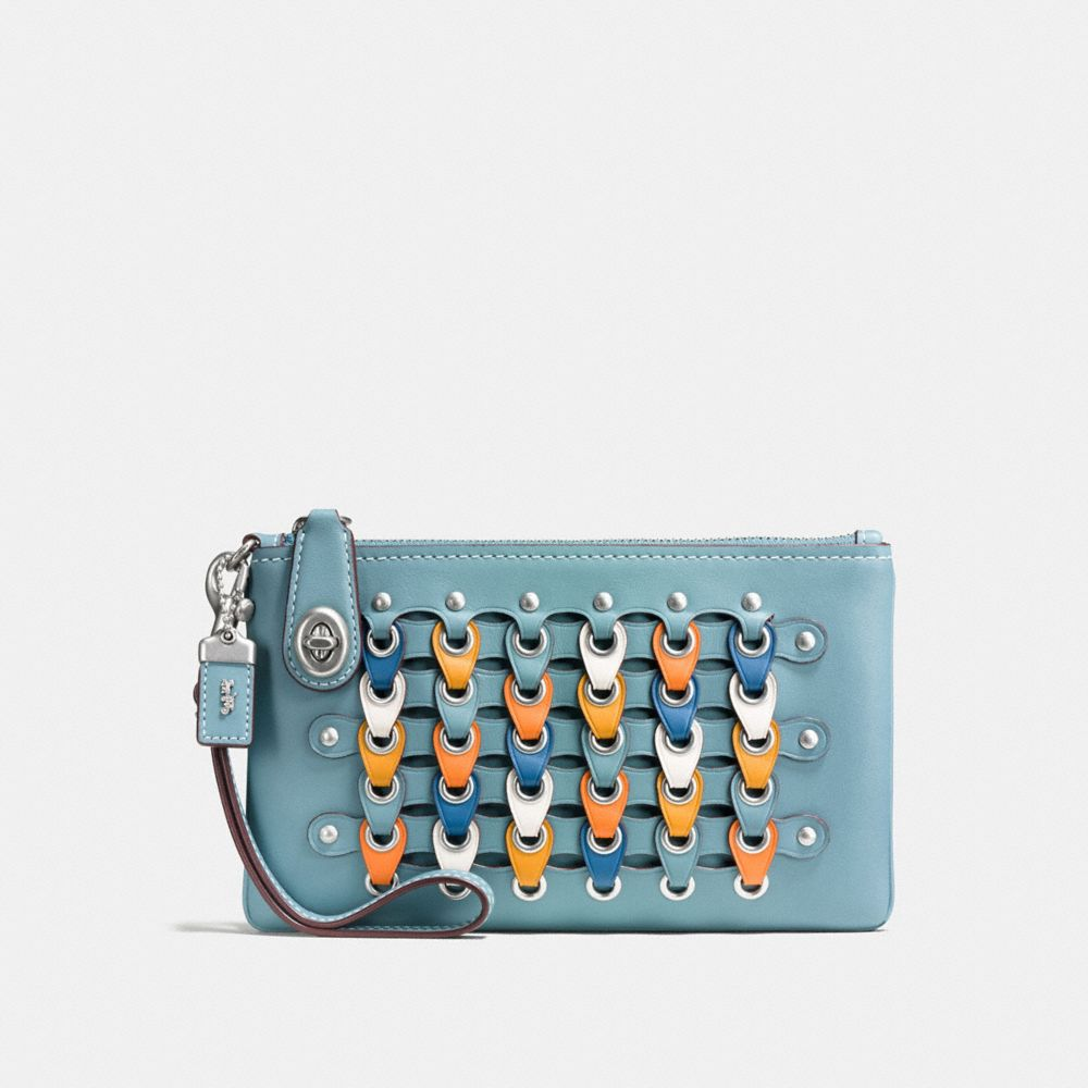 turnlock wristlet 21 with colorblock coach link
