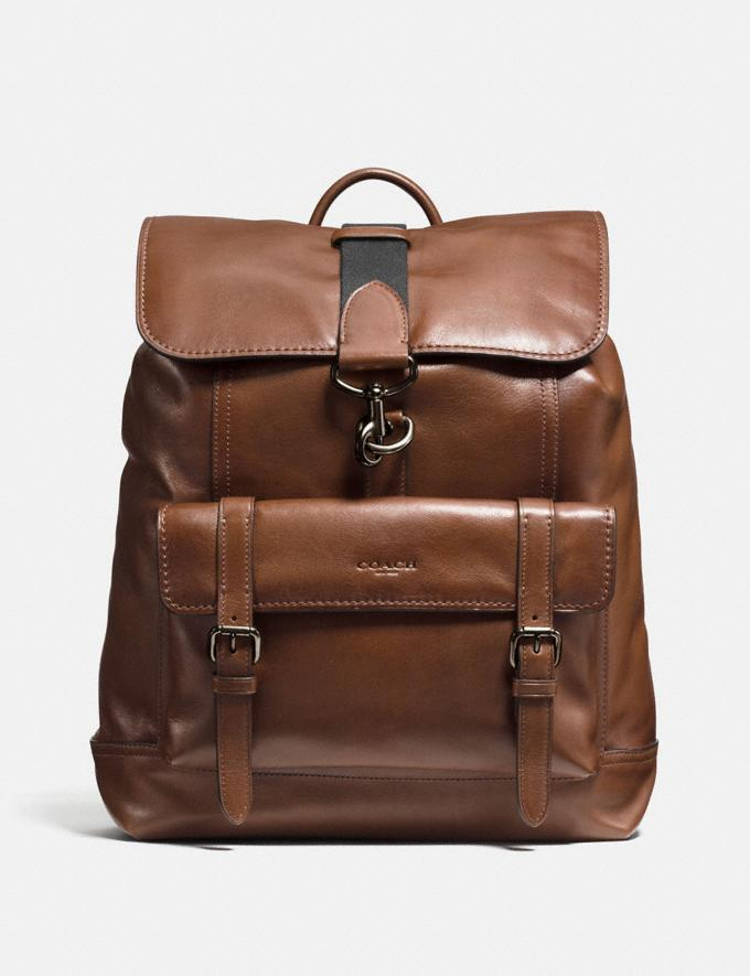 Coach Bleecker Backpack Ji/Dark Saddle Men Bags Backpacks