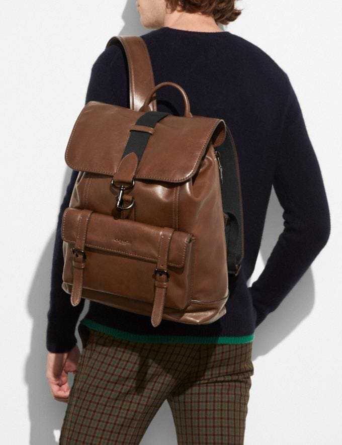 Coach Bleecker Backpack Ji/Dark Saddle New Men's New Arrivals Bags Alternate View 3