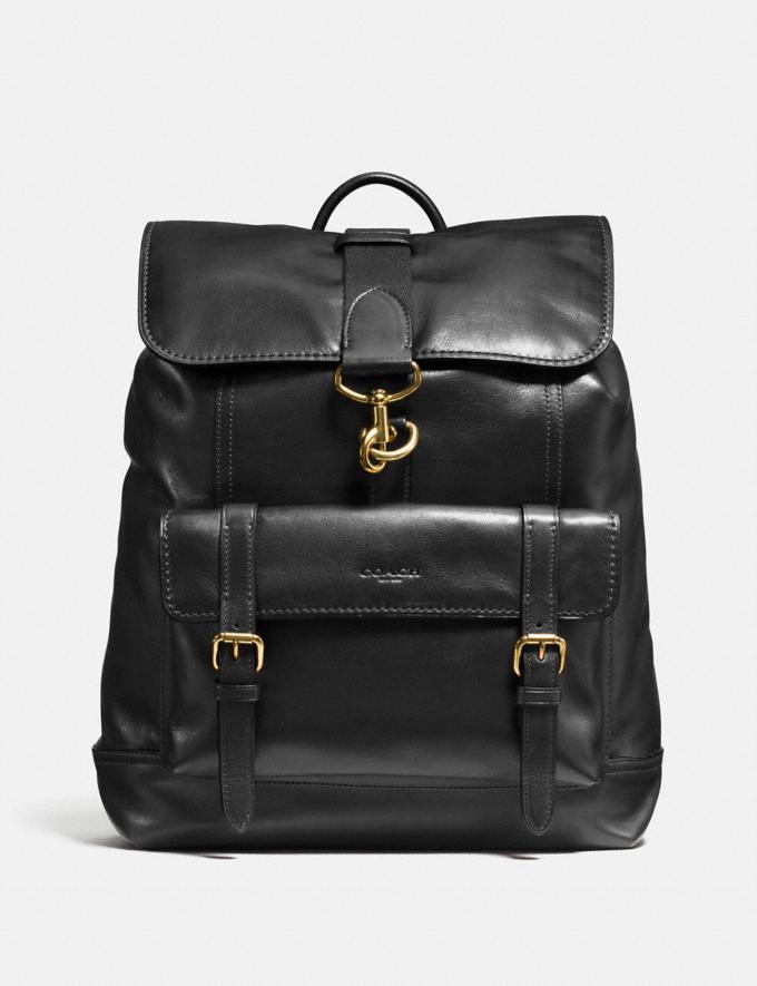 Coach Bleecker Backpack Old Brass/Black New Men's Trends Summer Picks