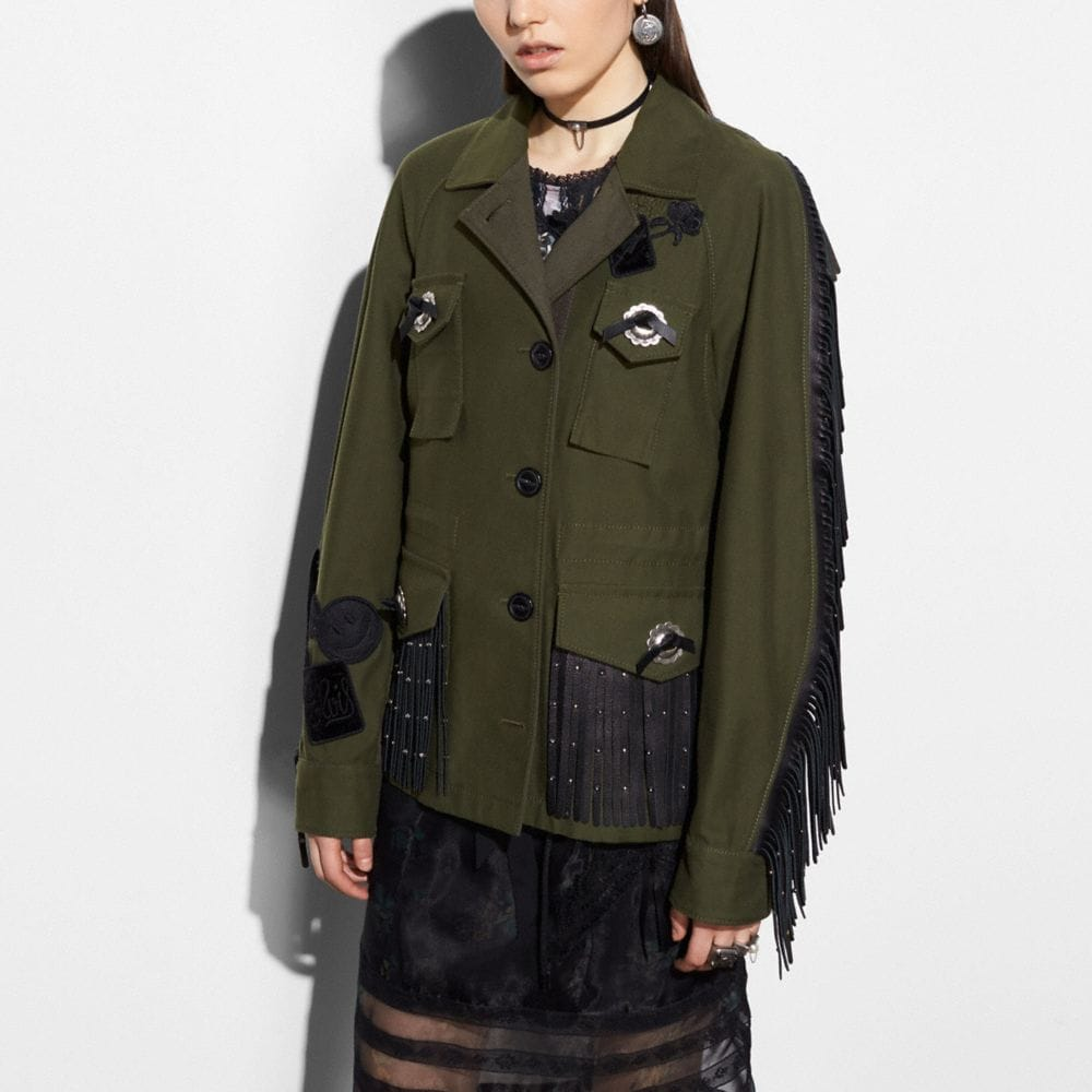 WESTERN MILITARY JACKET WITH POCKETS