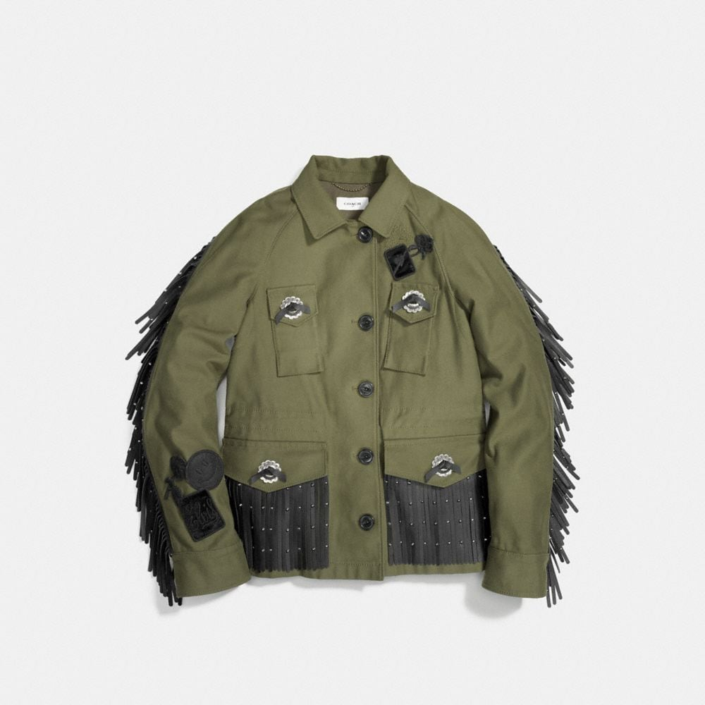 Western Military Jacket With Pockets - Alternate View A1
