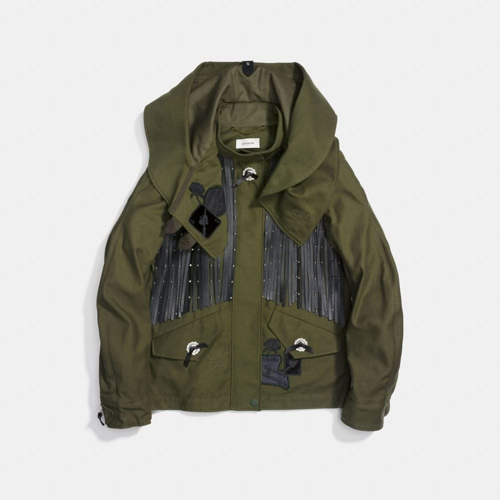 Coach Western Military Jacket Alternate View 1