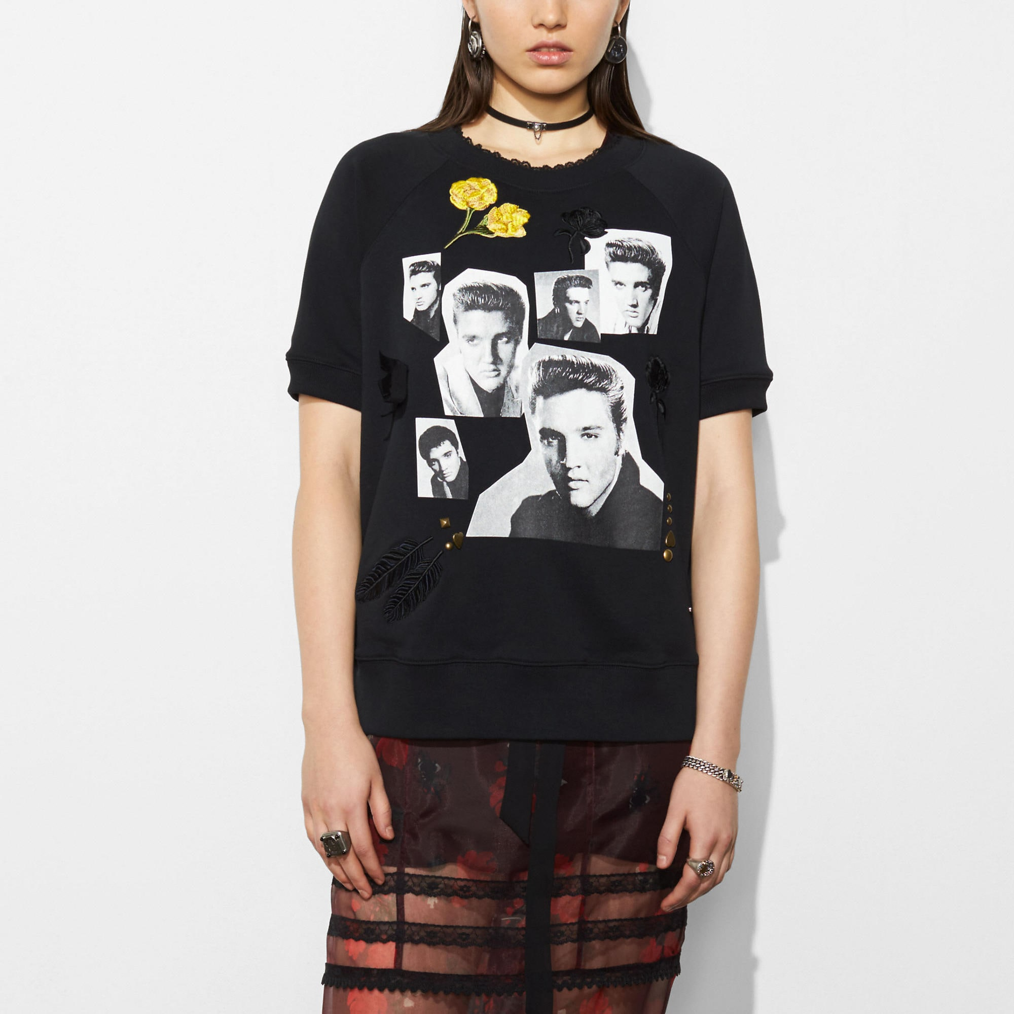 Coach Elvis Collage Raglan Sweatshirt