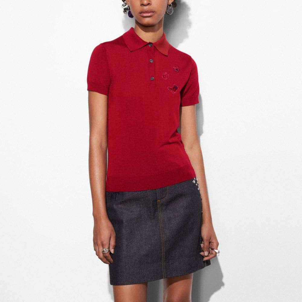 WESTERN EMBROIDERY POLO