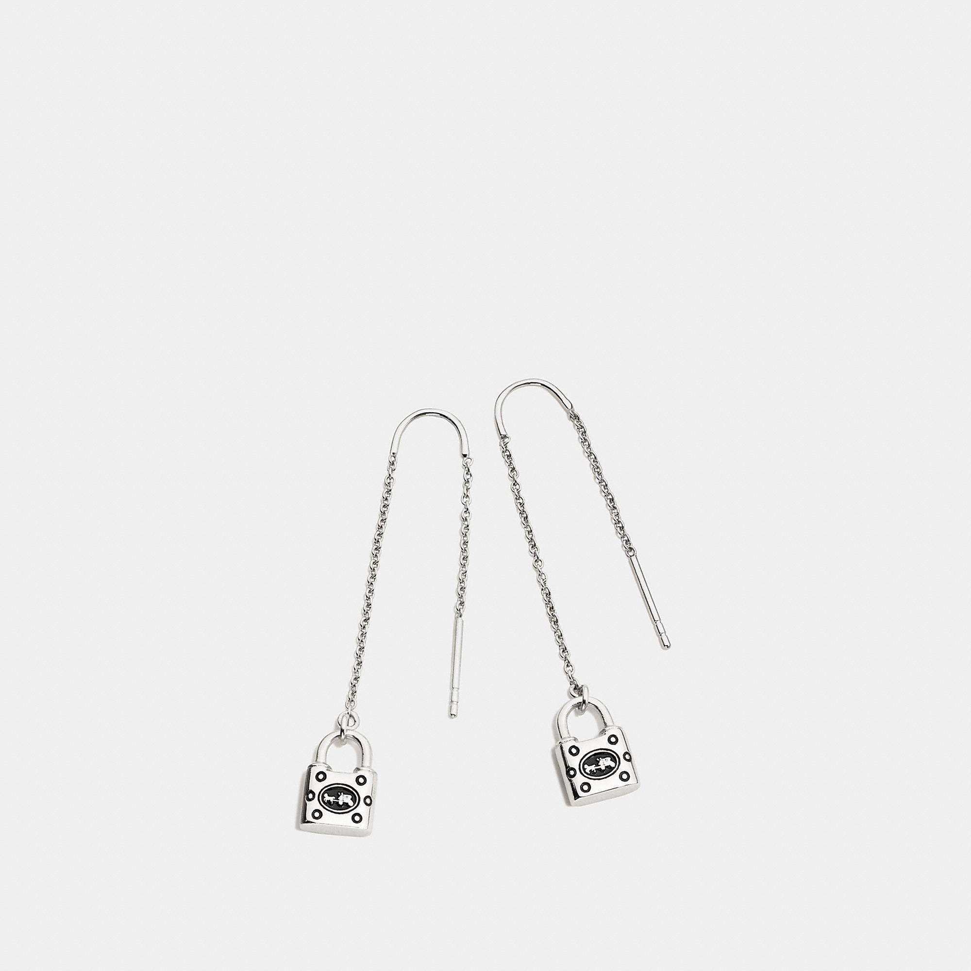 Coach Padlock Threader Earring