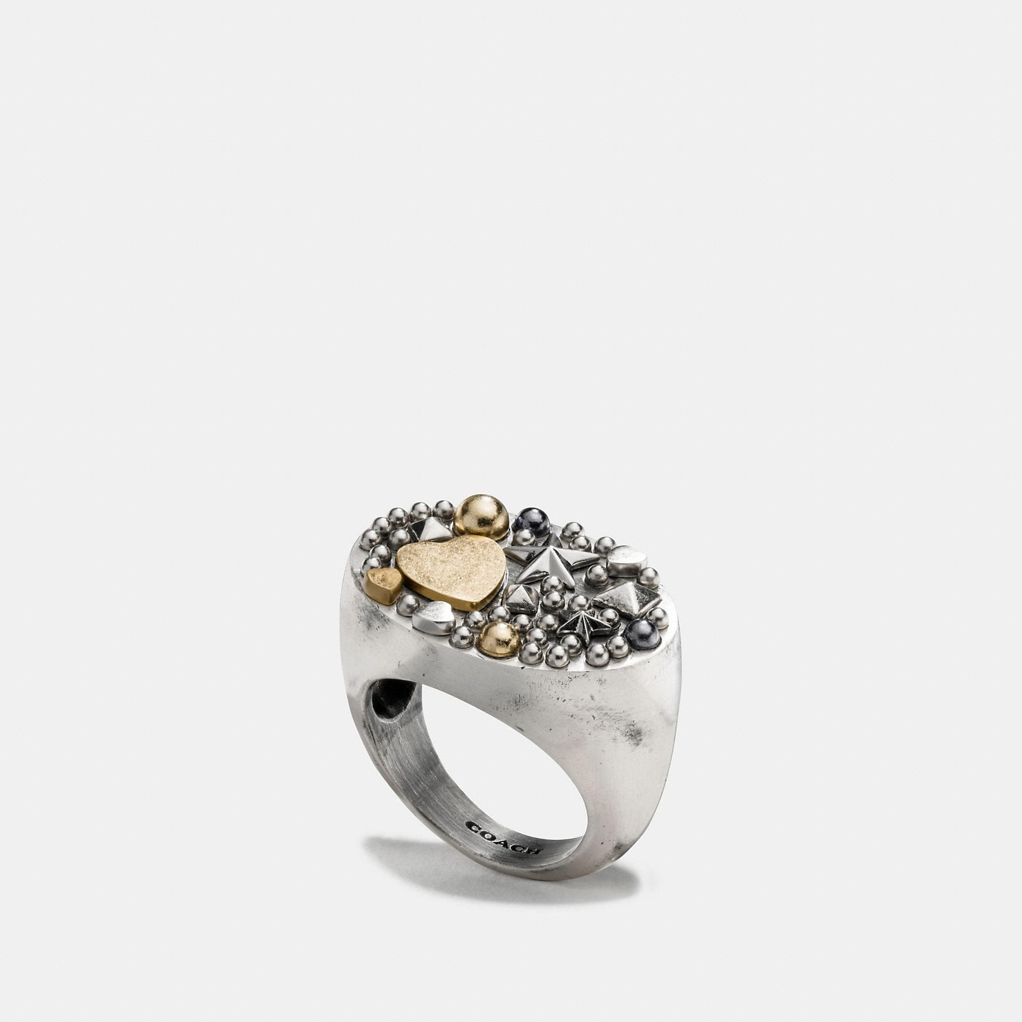Coach Studded Cluster Ring