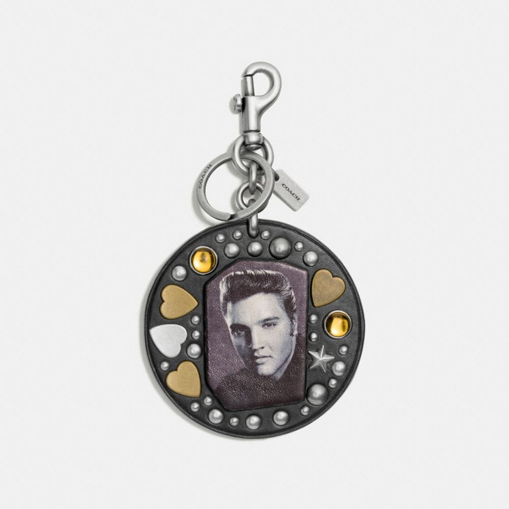 STUDDED ELVIS™ BAG CHARM WITH RIVETS
