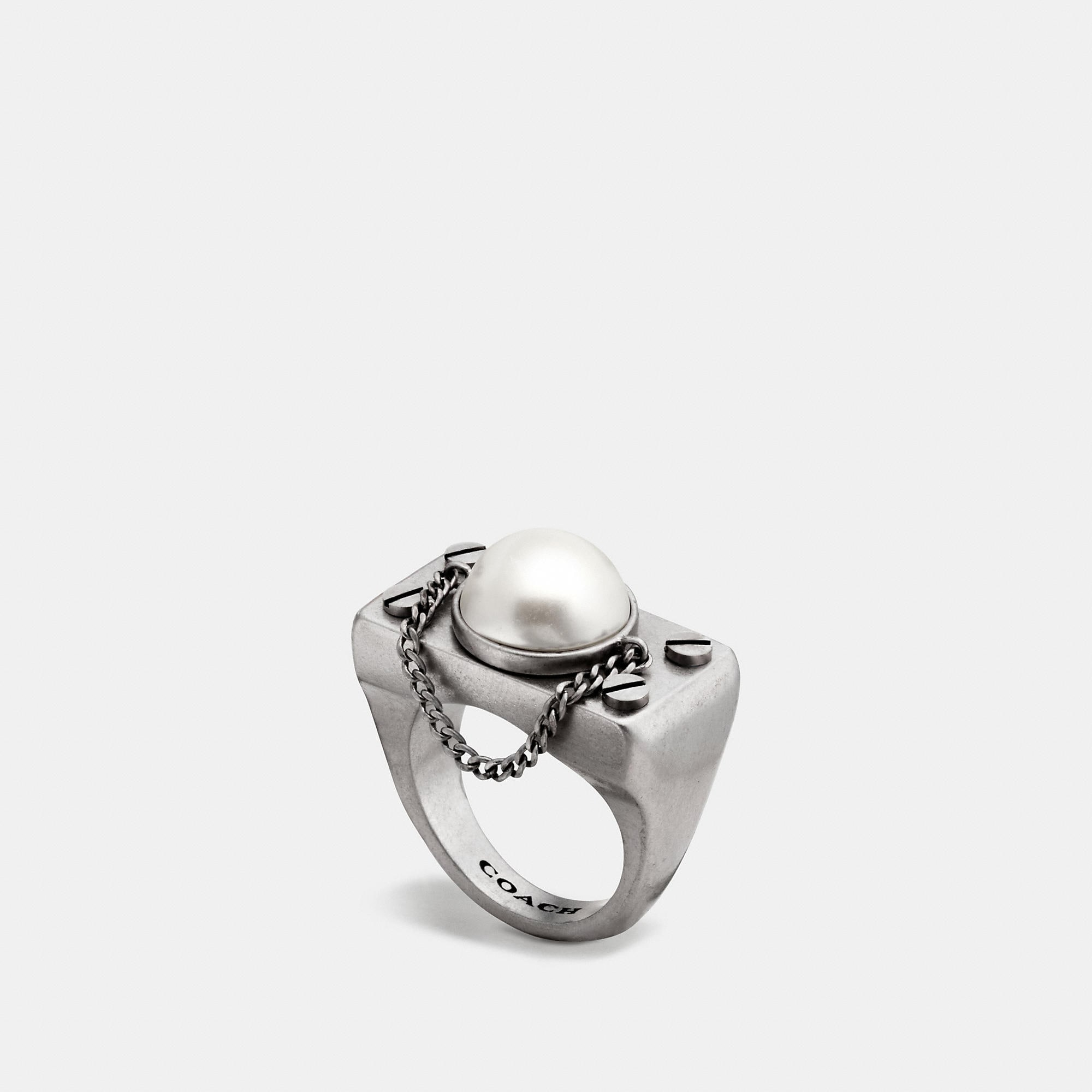 Coach Pearl Chain Ring