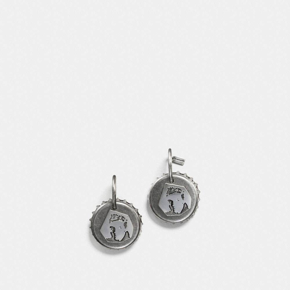 ELVIS™ BOTTLE CAP EARRING