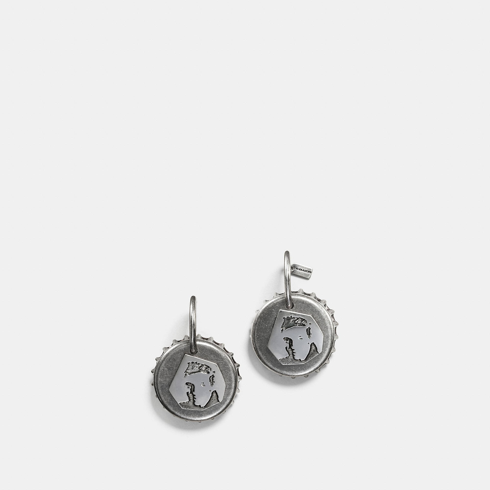 Coach Elvis Bottle Cap Earring