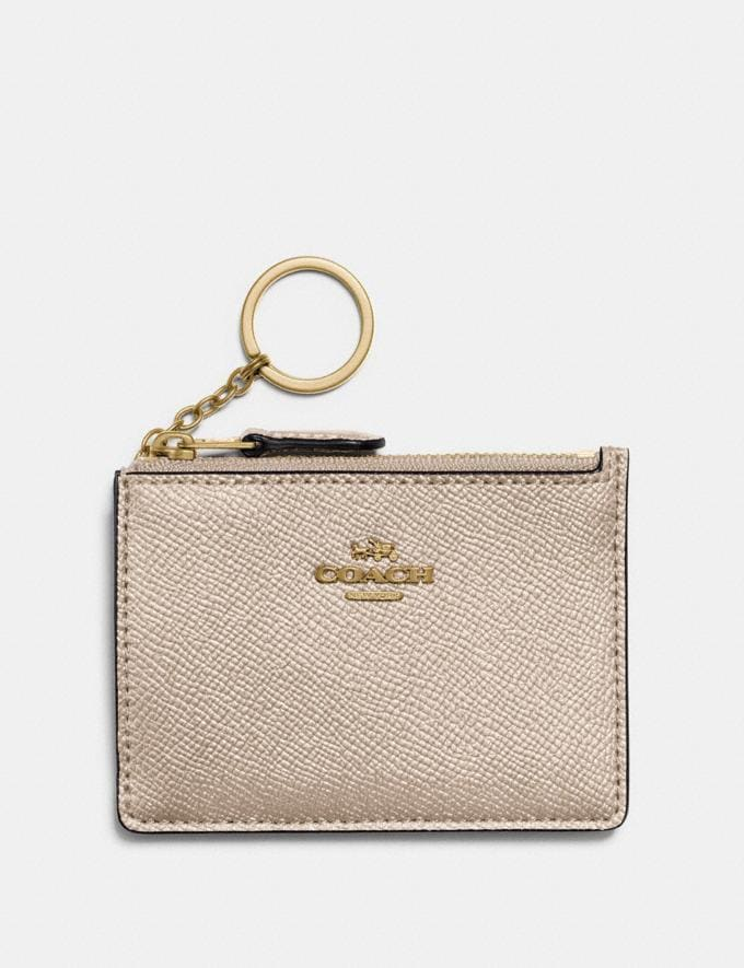 Coach Mini Skinny Id Case Platinum/Light Gold Gifts For Her Under £100
